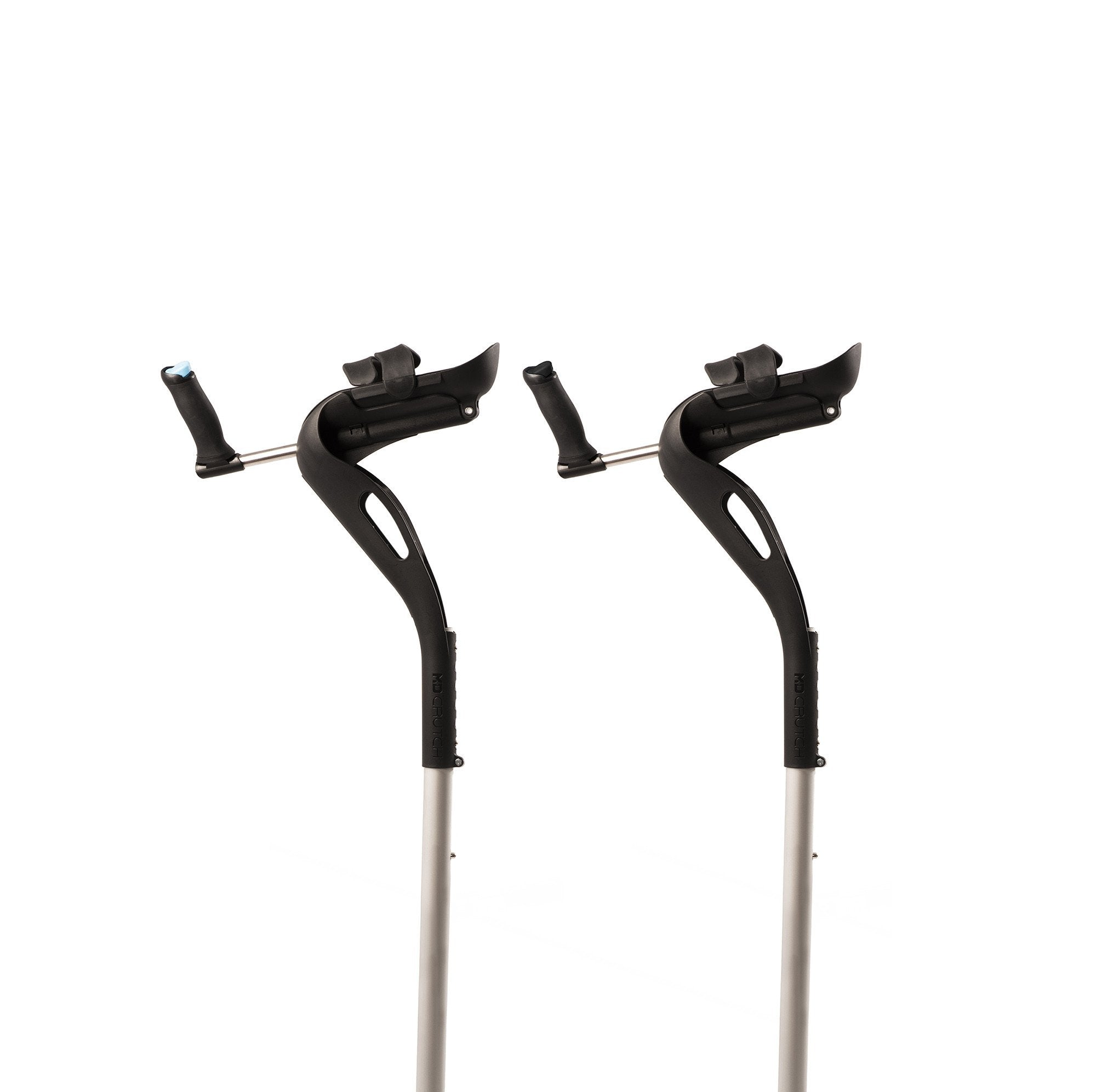 The M+D Crutches cradle the user's elbows, removing pressure that other crutches place on the armpits, wrists and hands.