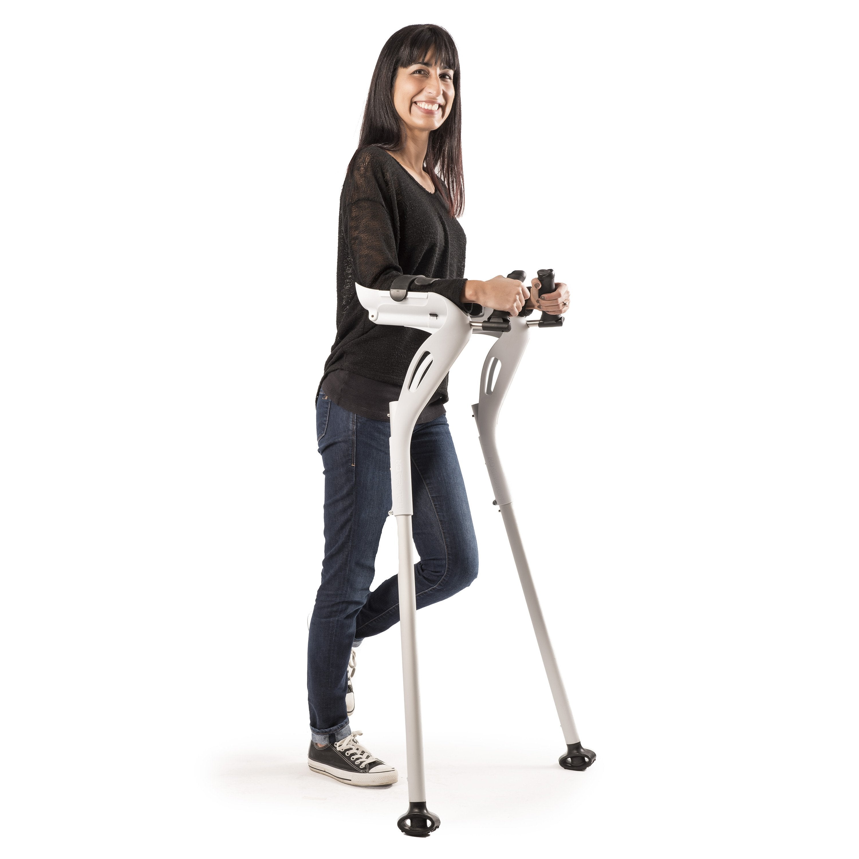 The M+D Crutches are designed to remove pressure on the armpits, wrists and hands,  increasing mobility and reducing pain