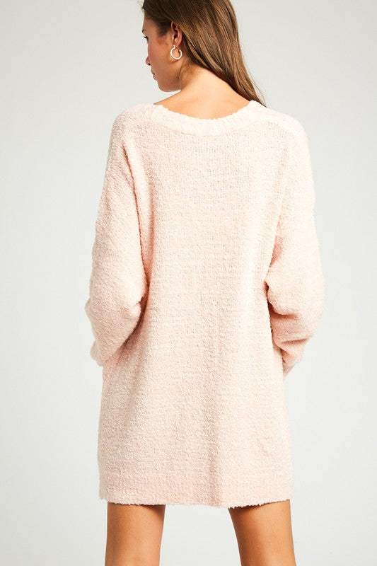 Lyla Soft Button Cardigan in Blush