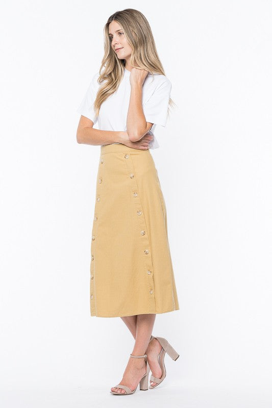 Double Sided Button Skirt