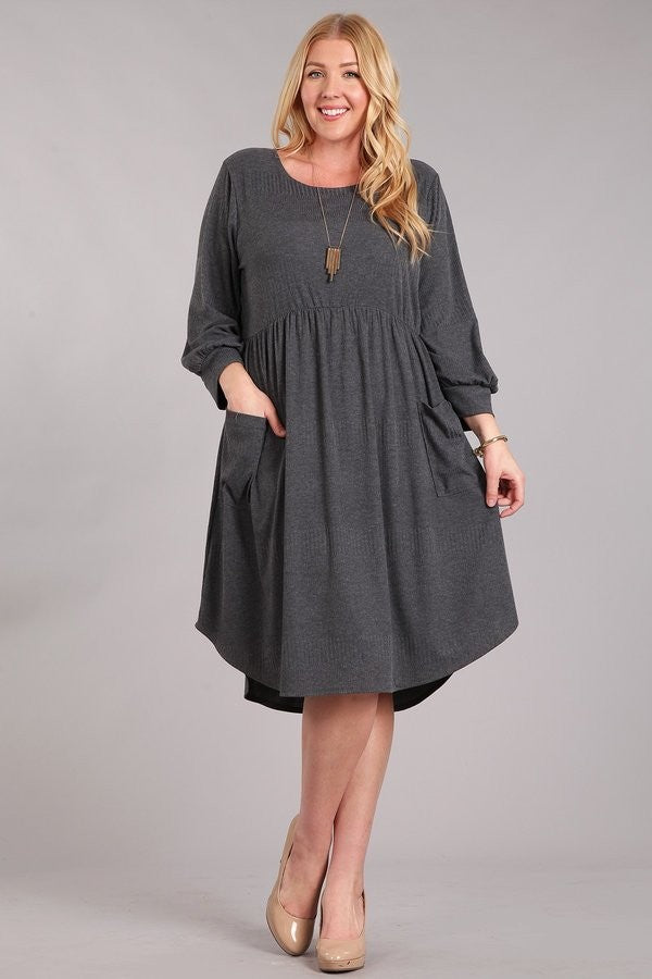 Totally Grey Midi Dress