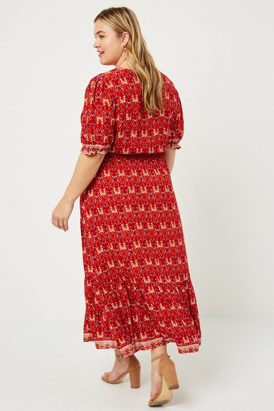 Lydia Midi Dress in PLUS