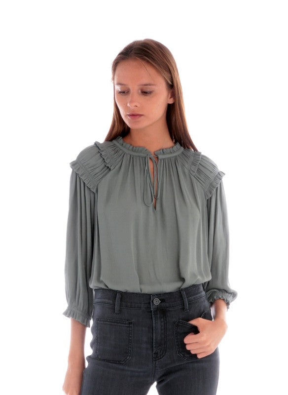 Ruffle Ruched Top