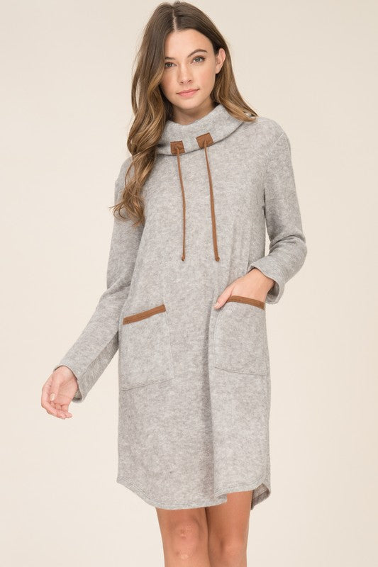 Avila Jersey Dress in Grey