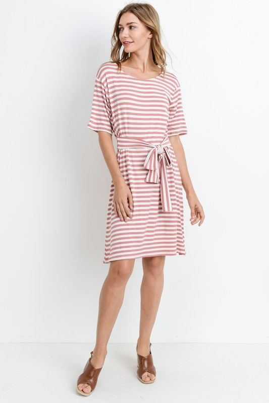 Adele Striped Midi Dress