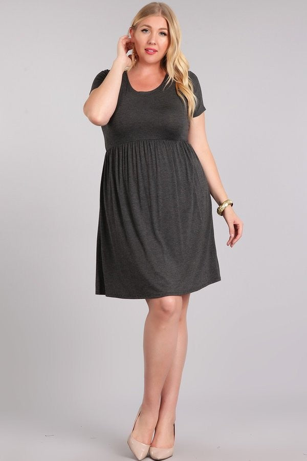 Tara Basic Baby Doll Dress PLUS Size