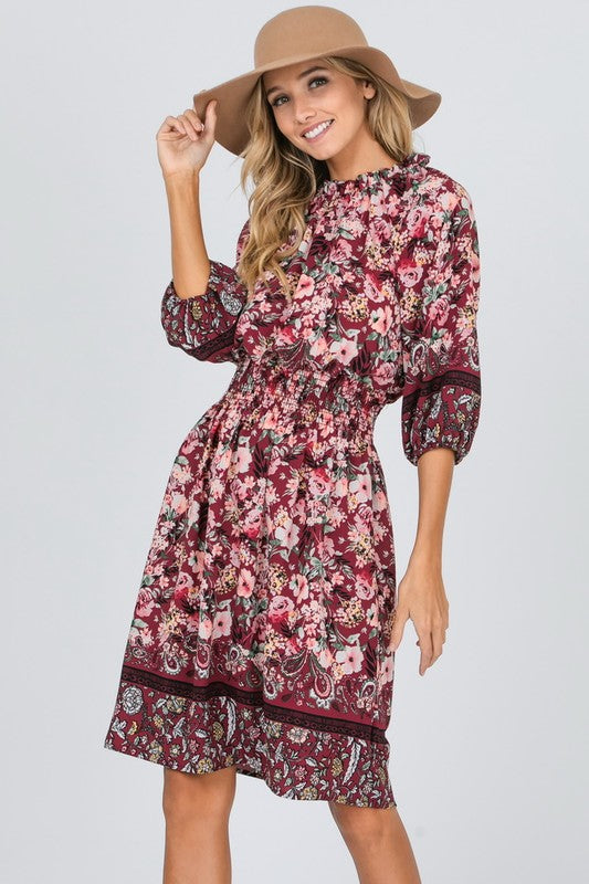 Mademoiselle Floral Midi Dress