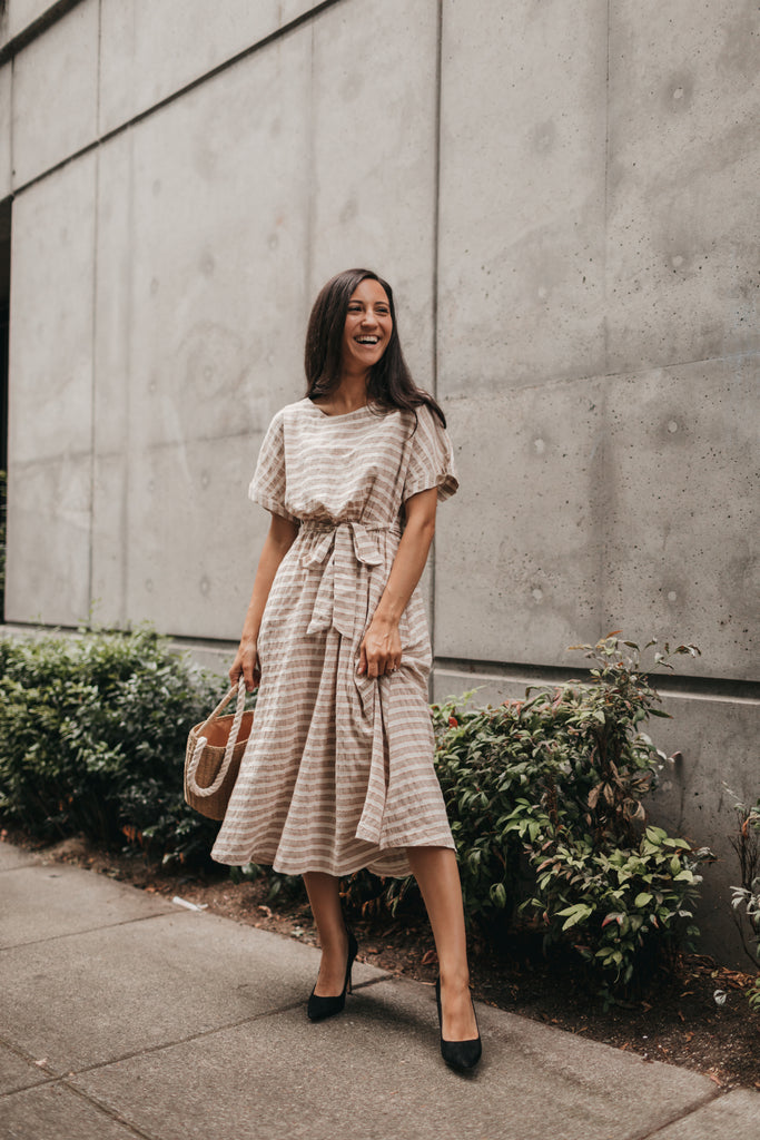Eva Midi Dress in Khaki