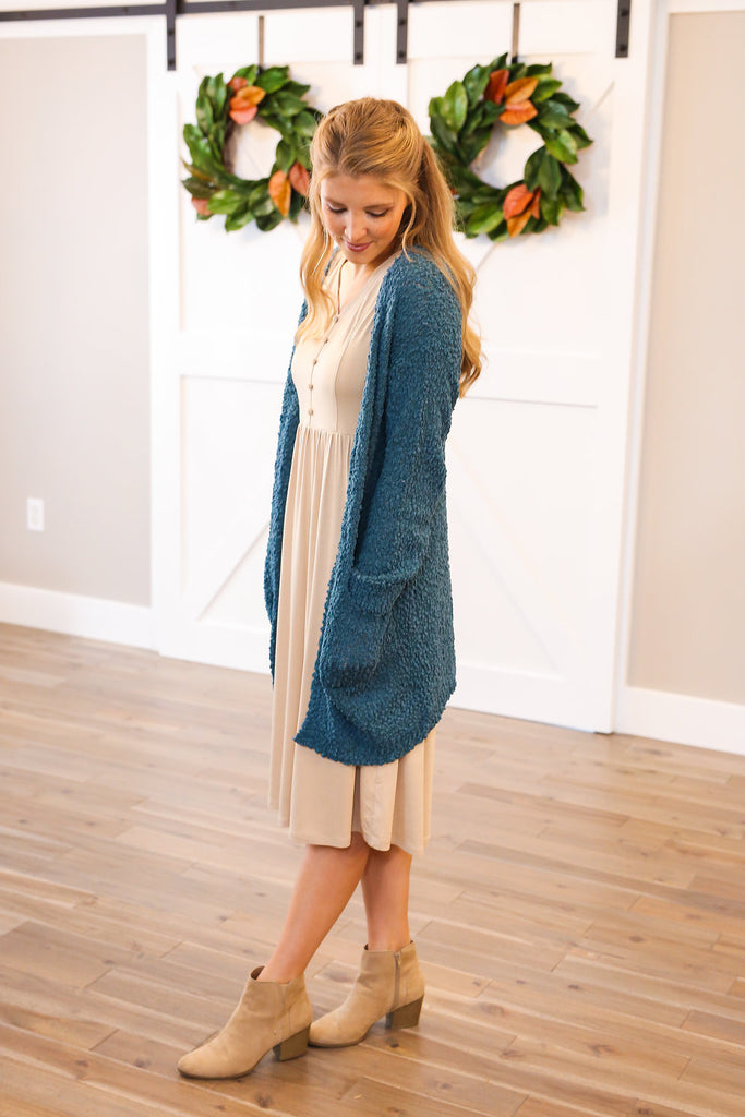 Cozy Up Cardigan in Teal