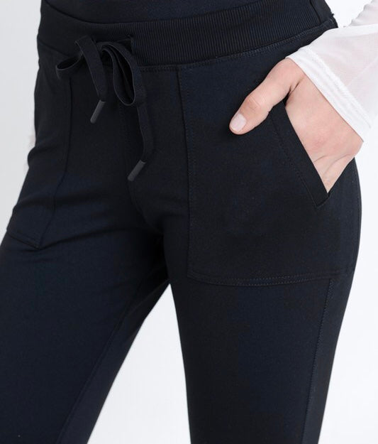 Finish Line Workout Pants in Black