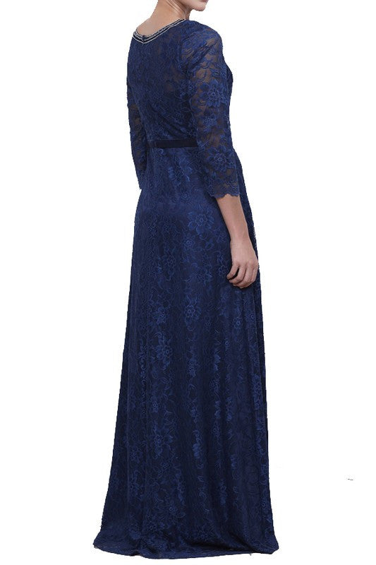 Womens Formal Lace Gown