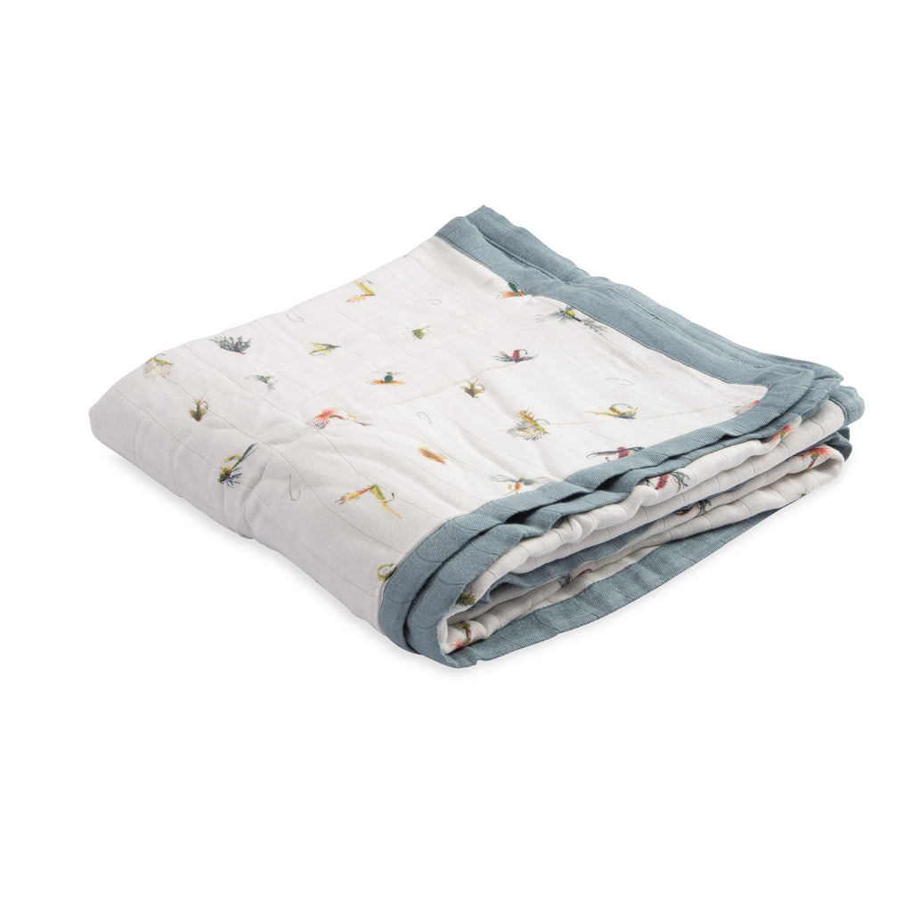 Deluxe Muslin Quilt- Gone Fishing