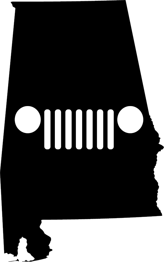 Alabama Grille Decal