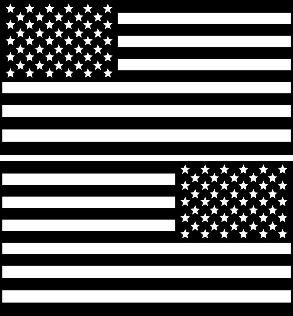 American Flag Decals