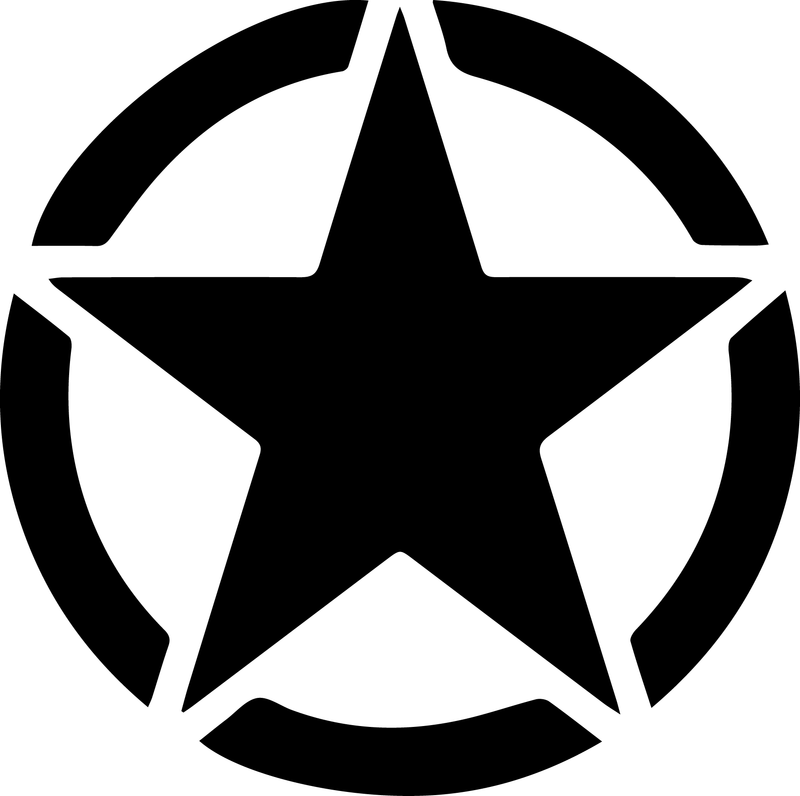 Military Star Decal