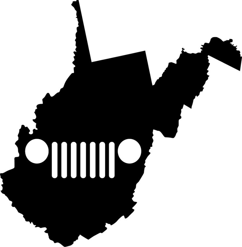 West Virginia  Grille Decal