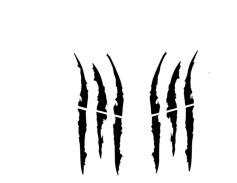 Monster Claws Headlight scratch Marks Set of 2