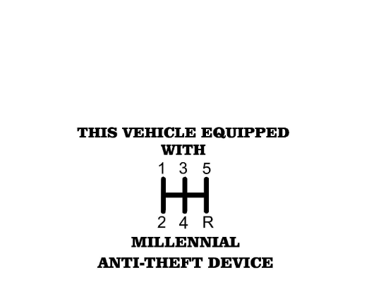 This Vehicle Equipped with Anti-Theft Device