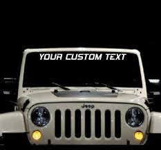 Custom Windshield Banner
