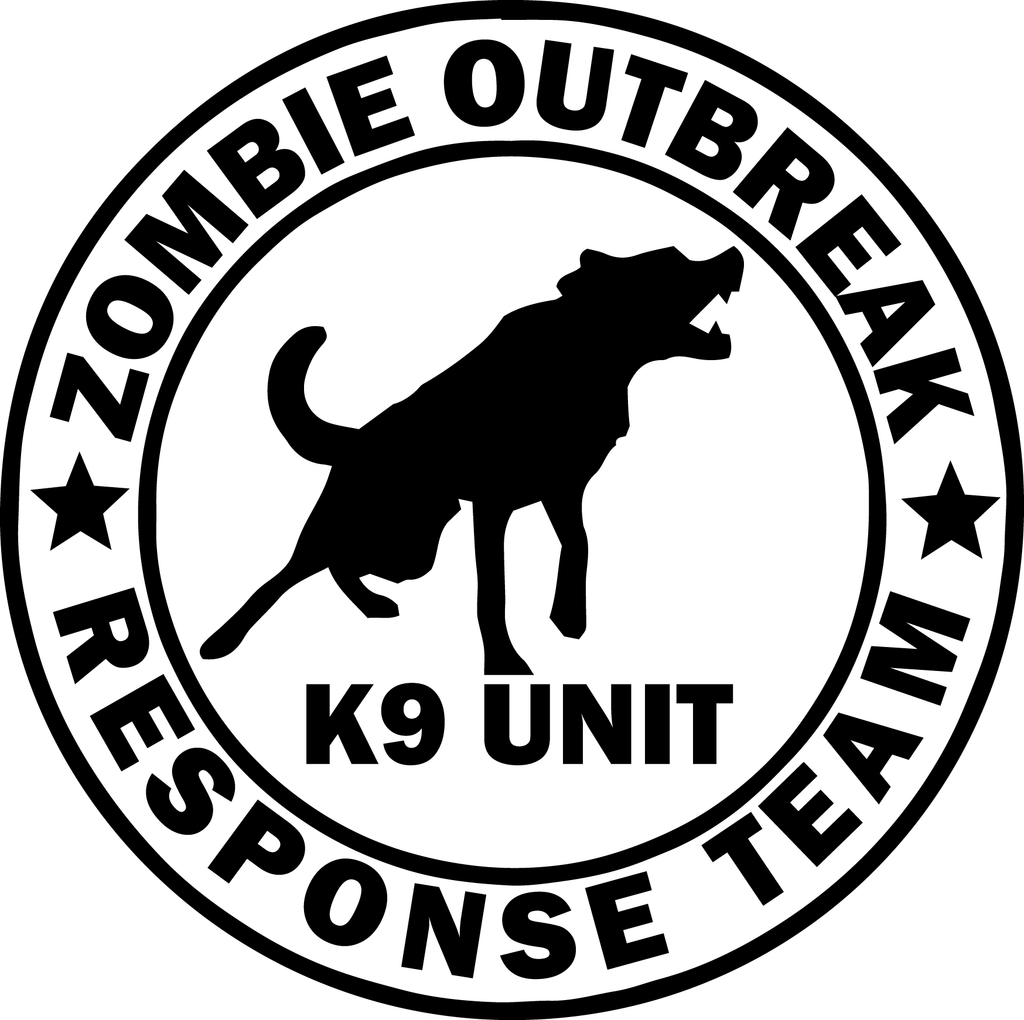 Zombie K9 Team Decal