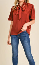 Load image into Gallery viewer, Reset by Jane V-Neck Tie Blouse