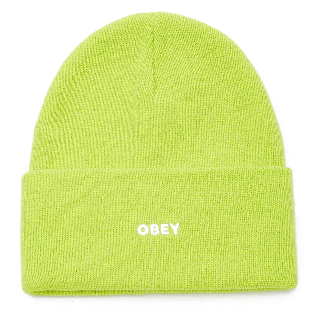 OBEY FLUID BEANIE MENS BRIGHT GREEN