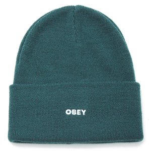 OBEY FLUID BEANIE MENS MALLARD GREEN