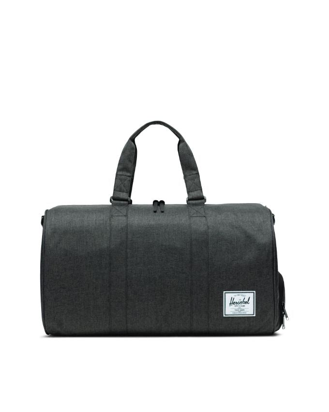 HERSCHEL NOVEL DUFFLE BAG BLACK CROSSHATCH