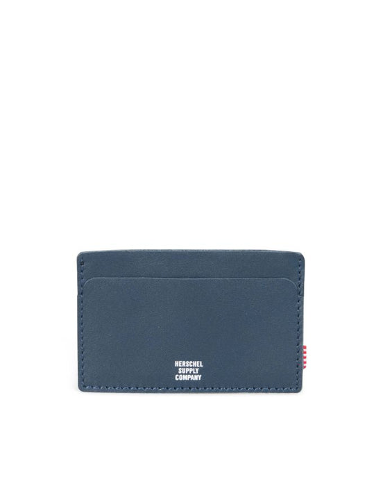 HERSCHEL FELIX CARD CASE LEATHER PEACOAT