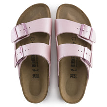 Load image into Gallery viewer, BIRKENSTOCK ARIZONA BIRKO-FLOR ICY METALLIC OLD ROSE