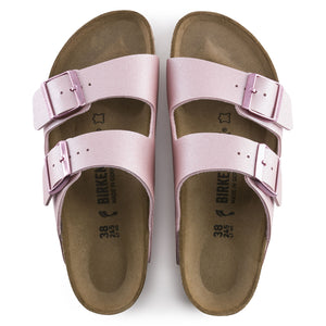 BIRKENSTOCK ARIZONA BIRKO-FLOR ICY METALLIC OLD ROSE