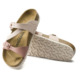 BIRKENSTOCK SALINA NUBUCK LEATHER ROSE/OLD ROSE