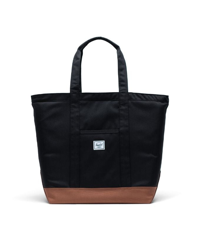 HERSCHEL BAMFIELD TOTE MID BLACK SADDLE