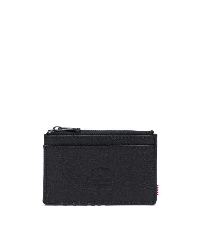 HERSCHEL OSCAR WALLET BLACK PEBBLED LEATHER