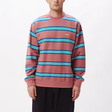 Load image into Gallery viewer, OBEY IDEALS ORGANIC STRIPE CREW MESAROSE