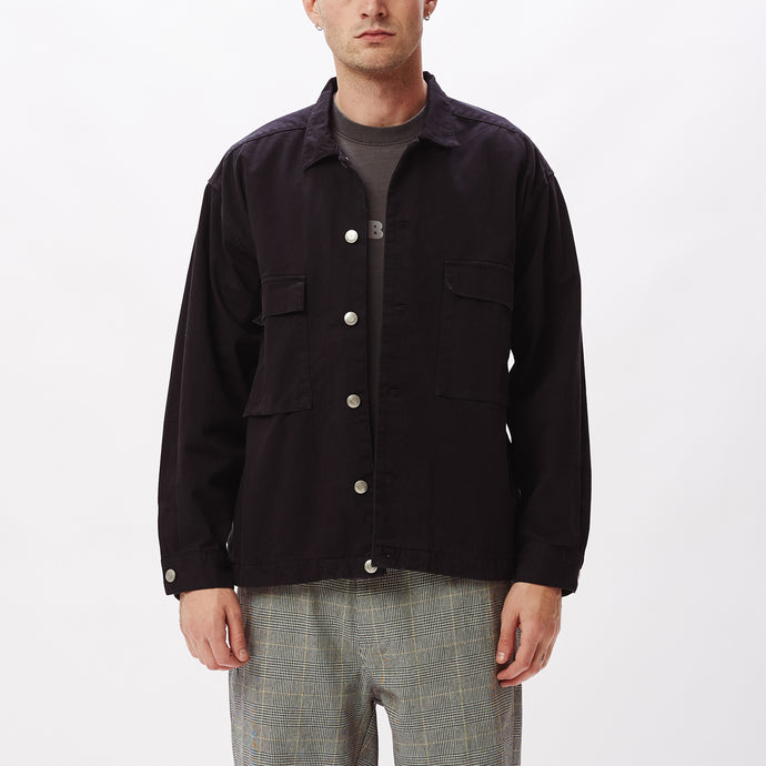 OBEY WILSON SHIRT JACKET BLACK