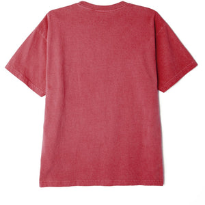 OBEY JUMBLE III PIGMENT TEE CASSIS