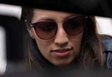 Load image into Gallery viewer, RAEN NORIE-A OXBLOOD CRYSTAL SUNGLASSES