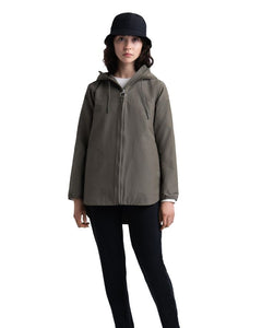 HERSCHEL HOOD JUMPER WOMENS DUSTY OLIVE