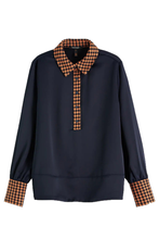 Load image into Gallery viewer, SCOTCH & SODA CONTRAST BLOUSE