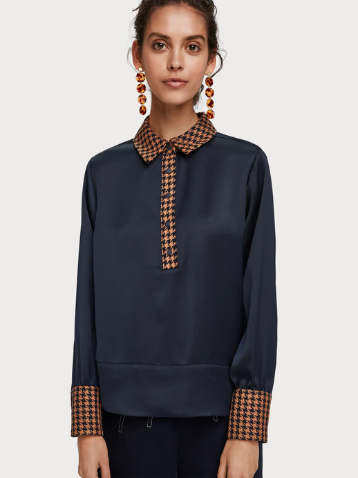 SCOTCH & SODA CONTRAST BLOUSE