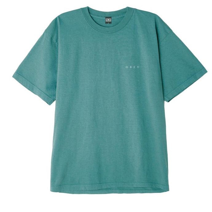 OBEY NOVEL 3 HEAVYWEIGHT BOX TEE EUCALYPTUS