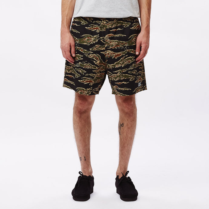 OBEY EASY RELAXED TIGER CAMO SHORTS