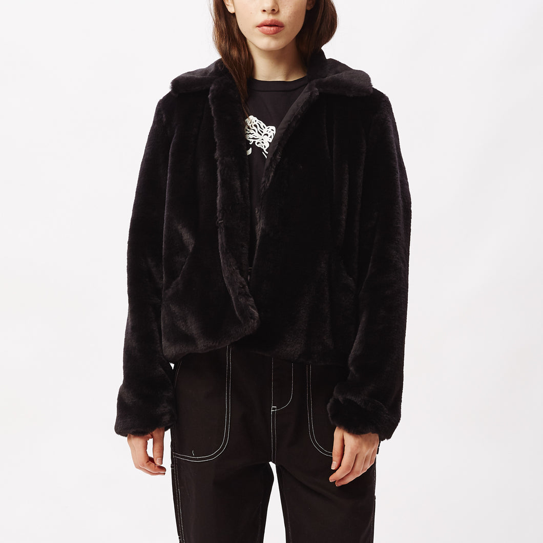 OBEY ICON FAUX FUR JACKET