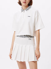 Load image into Gallery viewer, OBEY LIANA CROP POLO WHITE