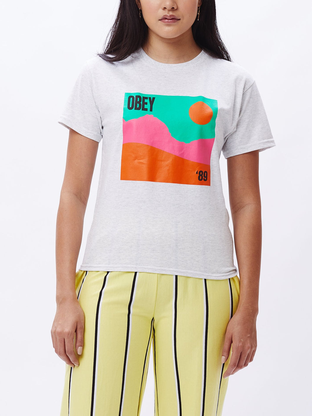 OBEY LANDSCAPE SHRUNKEN T-SHIRT WHITE