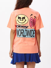 Load image into Gallery viewer, OBEY ACID CRASH T-SHIRT WOMENS NEON ORANGE