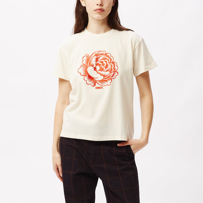OBEY ORGANIC FLOWER T-SHIRT