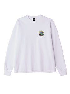 OBEY TAKE BACK THE PLANET CUSTOM BOX LS TEE WHITE