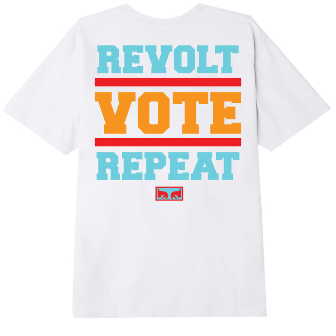 OBEY REVOLT VOTE REPEAT WOMEN'S T-SHIRT WHITE